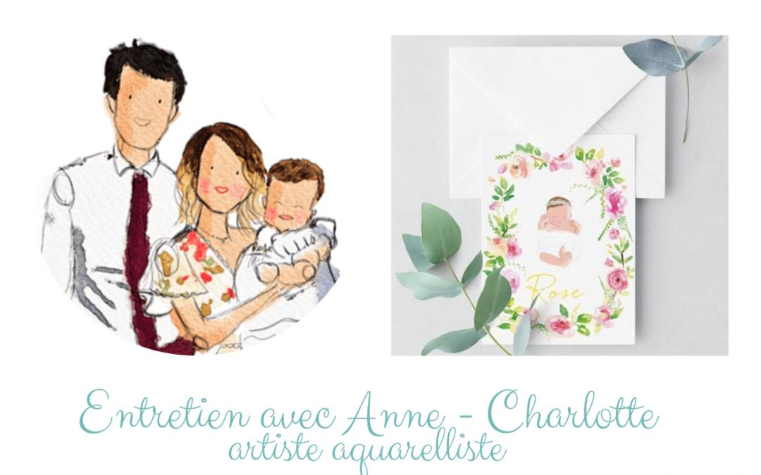 Entretien avec Anne – Charlotte artiste aquarelliste du blog Happy Chantilly