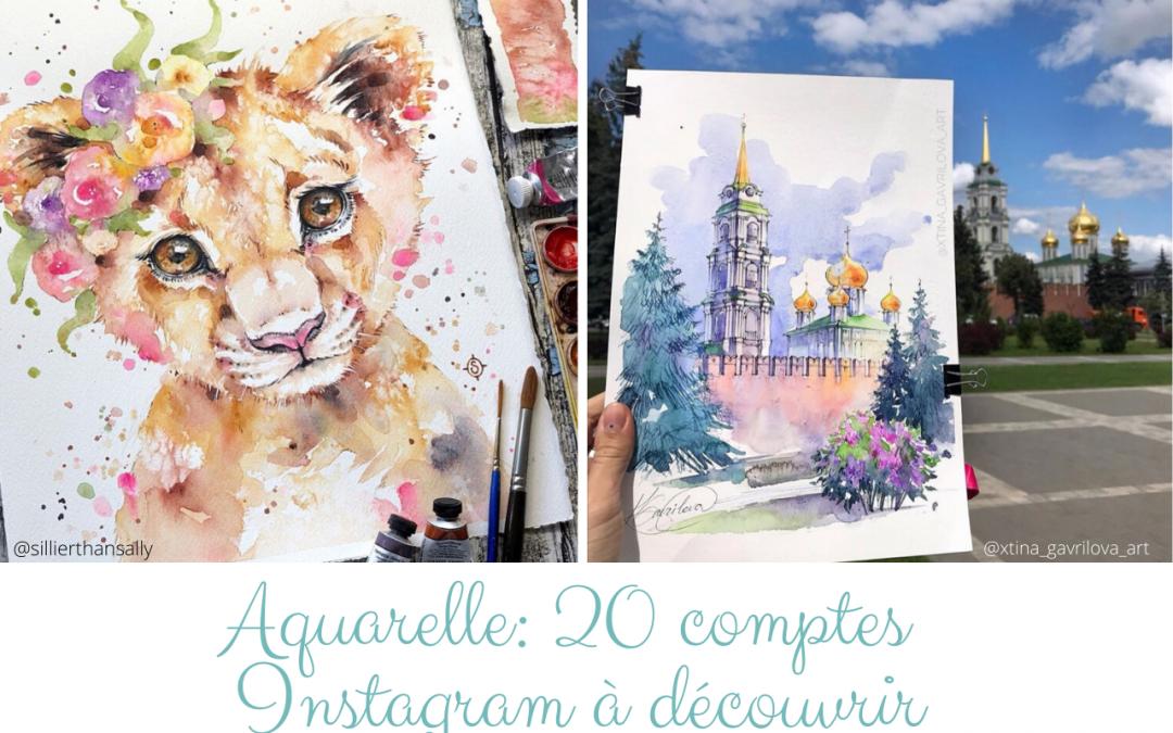 Aquarelle: 20 comptes Instagram à découvrir