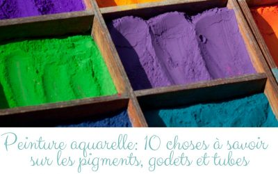 Peinture aquarelle: 10 choses à savoir sur les pigments, godets et tubes aquarelles.